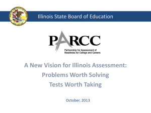 PARCC Update PowerPoint - Western Illinois University