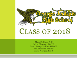 Class of 2018! - George Jenkins High School