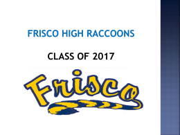A Day - Frisco ISD Schools