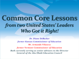 Kansas Common Core State Standards * Talking Points