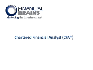 CFA - Financial Brains
