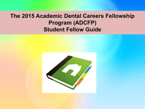 2015 ADCFP Student Guide - UNC School of Dentistry