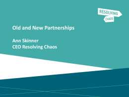 Old and New Partnerships - Ann Skinner