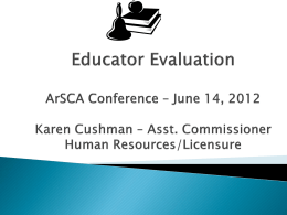 PowerPoint - Arkansas School Counselor Association
