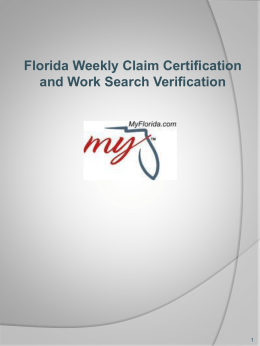 Locating Fluid Continued Claims Application from Floridajobs.org