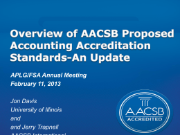 Slides from the Accreditation Update Presentation