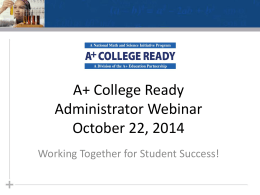 Powerpoint - A+ College Ready