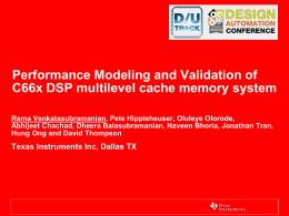 Performance Validation framework