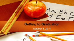 Getting to Graduation - Kent School District