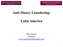 AML Latin America - Samson & Mcgrath