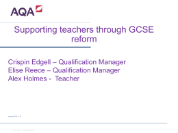 Ready for GCSE? ASE meeting