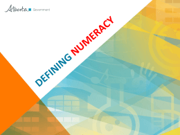 What are Literacy and Numeracy?