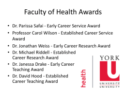 Faculty of Health Awards