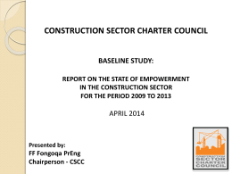Presentation of the Baseline Report - April 2014
