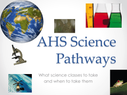 AHS Science Pathways - Acalanes Union High School District
