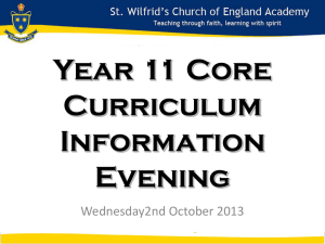 Year 11 Core Curriculum Evening Powerpoint 2013