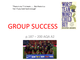GROUP SUCCESS