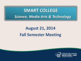 Fall 2014 College-wide Meeting Agenda