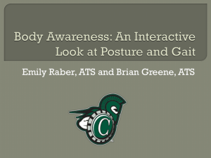 Body Awareness: A Look at Posture and Gait