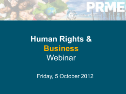 Business and Human Rights - Principles for Responsible
