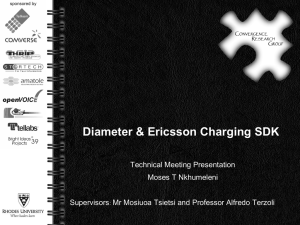 Diamter Protocol and Ericsson Diameter Charging SDK