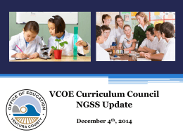 NGSS UpdateJWNI December 2014