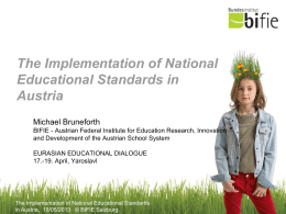 The Implementation of National Educational Standards in Austria