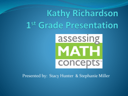 Kathy Richardson Presentation 1st grade MINI