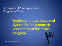 Programmatic Assessment: