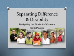 Separating Difference and Disability - long Powerpoint