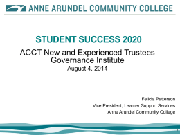 Student Success Power Point - Association of Community College
