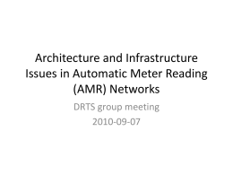 Architecture and Infrastructure Issues in Automatic Meter Reading