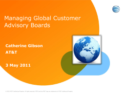 AT&T - Customer Advisory Boards