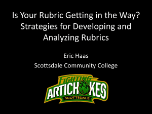 Is Your Rubric Getting in the Way? Strategies for Developing and