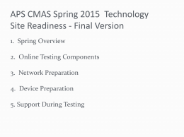SiteReadiness2015Spring- APS IT Final