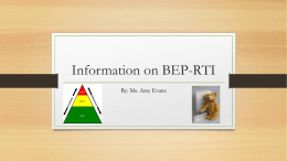 Information on BEP-RTI