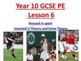Year 10 lesson inverted U theory