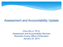 (RAN) Update - Riverside County Office of Education