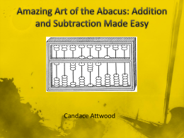 Amazing Art of the Abacus: Candace Attwood