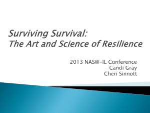 Surviving Survival: The Art and Science of Resilience (1