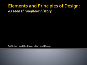 Elements and Principles of Design: as seen throughout history