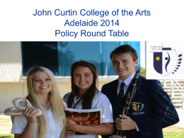 John Curtin College of the Arts presentation on supporting students