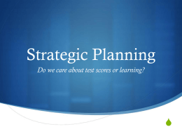 Strategic Planning Power Point - Ardsley Union Free School District
