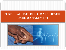 Know more about PGDHM - Parul Group of Institutes