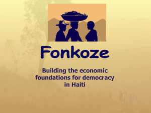 Building the Economic Foundations for Democracy in Haiti
