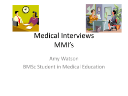 Medical Interviews