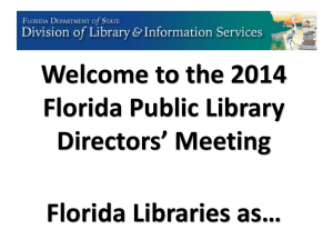 2014 Directors` Meeting Slides