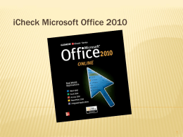 Office 2010 Online PowerPoint