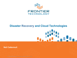 Make Business Sense of the Cloud for Business Continuity