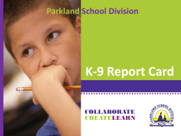 K-9 Report Card - Muir Lake School Staff Wiki
